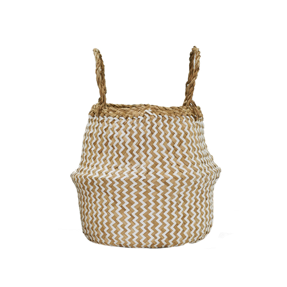 OLLI ELLA Zig Zag Belly Basket - Small