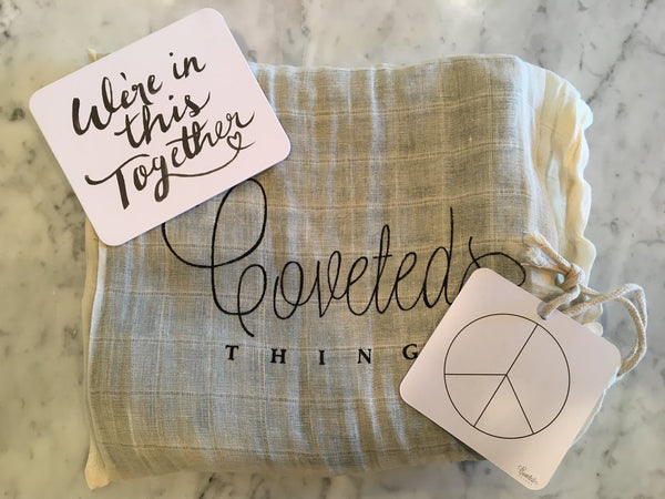 COVETED THINGS |  Organic Swaddle | Peace