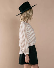 RYLEE + CRU | SNOWBIRD | Womens Stripe Meadow Blouse | Ivory
