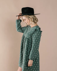 RYLEE + CRU | SNOWBIRD | Womens Northern Star Piper Dress | Spruce