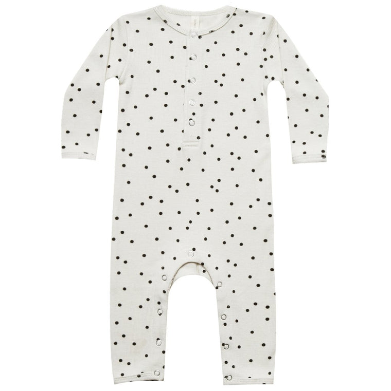QUINCY MAE I Ribbed Baby Jumpsuit Pebble SS19