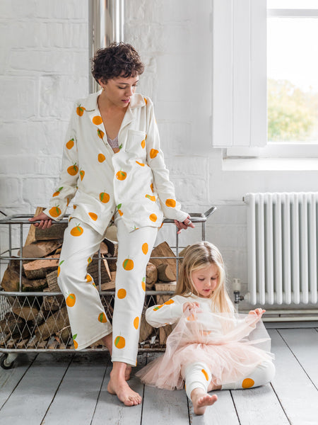 SLEEPY DOE | Mumma Collar PJ Set | Clementine