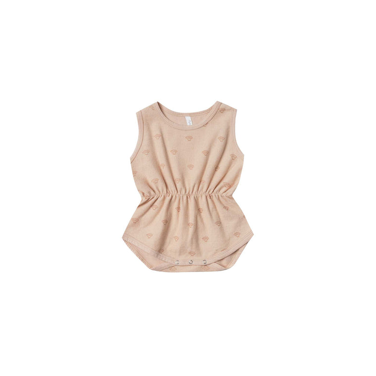 RYLEE + CRU Shell Cinch Playsuit - Blush