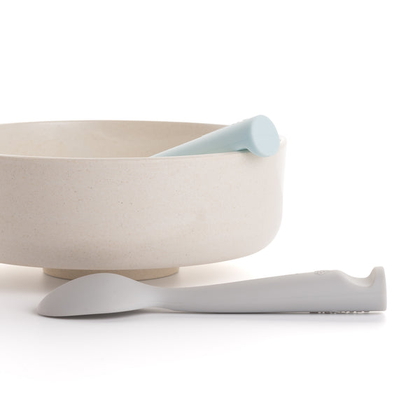 MINIWARE By BONNSU Silicone Spoon Set Grey & Mint
