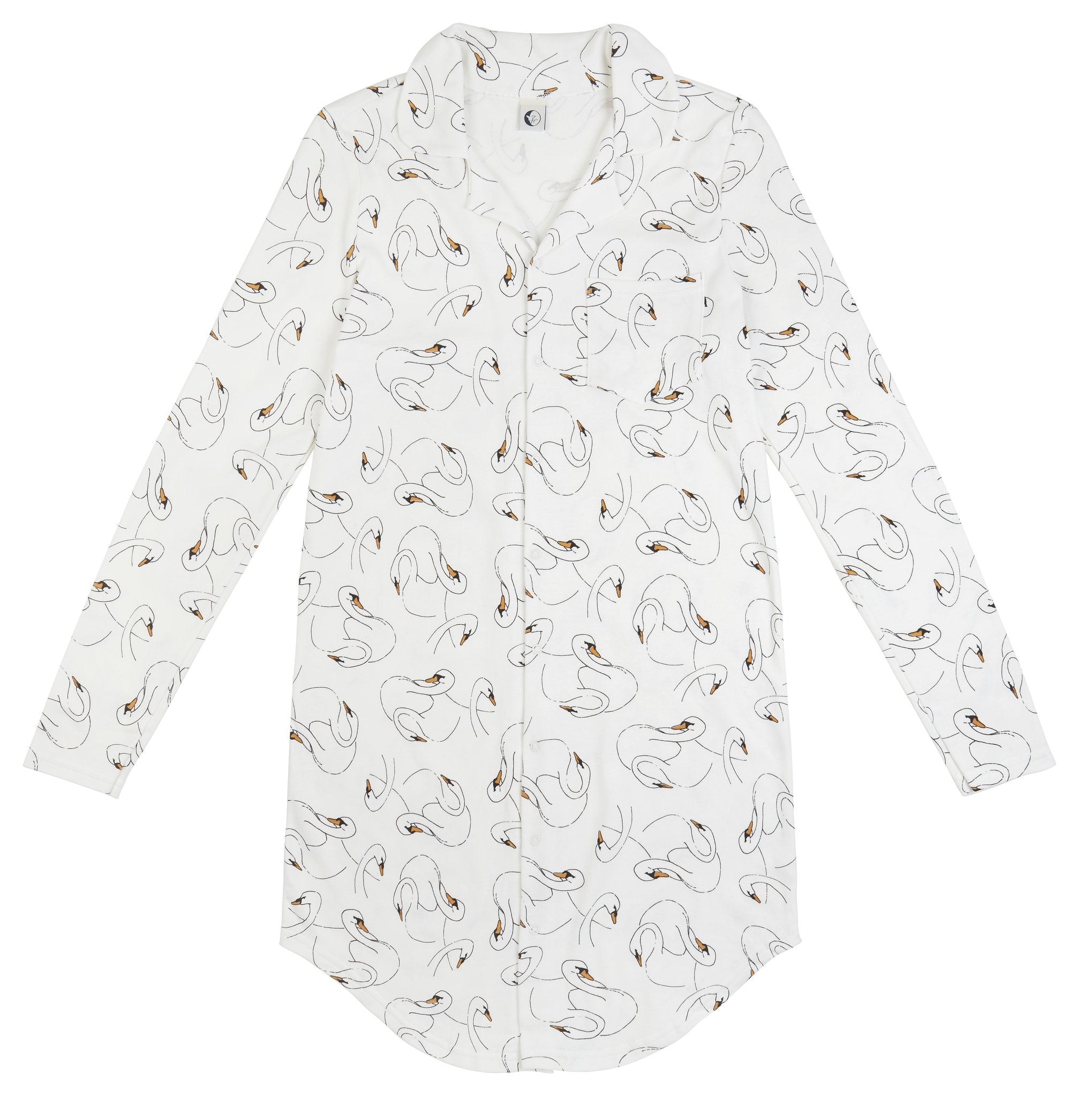 SLEEPY DOE | Mumma Night Shirt | Swansy White