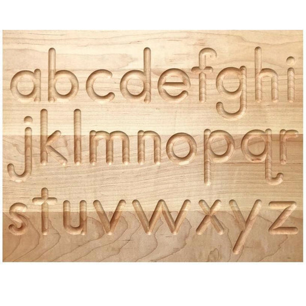 TREASURES FROM JENNIFER | Wooden Alphabet Tracing Board | Upper Case And Lower Case