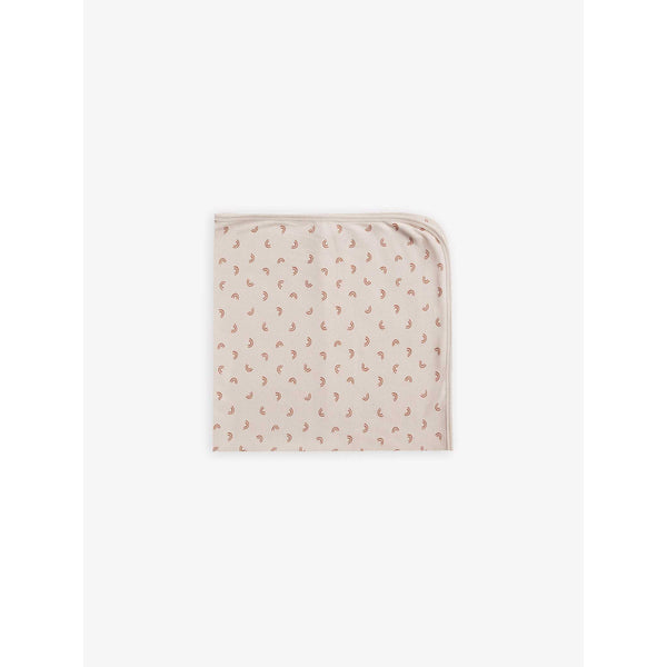 QUINCY MAE AW19 I Ribbed Baby Blanket | Clay