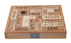 WOODEN STORY Blocks Natural Peace & Love 29 pieces