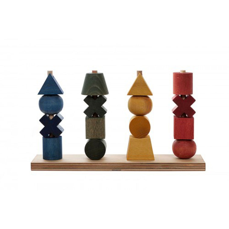 WOODEN STORY Stacking Toy Rainbow XL