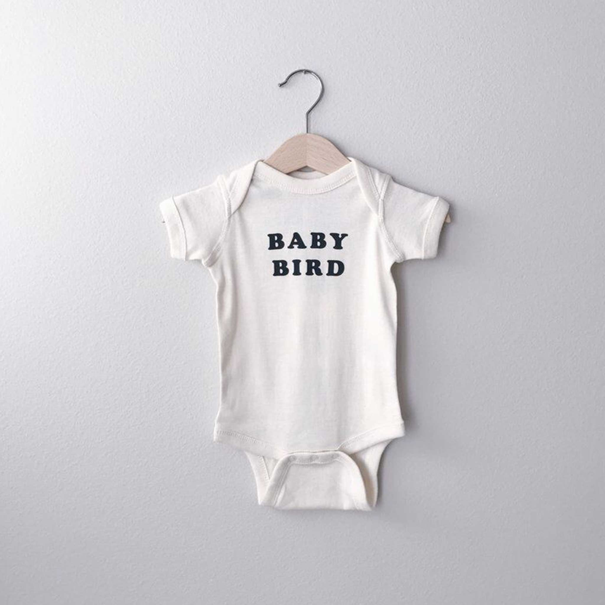 THE BEE AND THE FOX | Baby Bird Onesie | White
