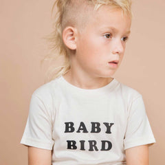 THE BEE AND THE FOX | Tee| Baby Bird | White / Cream (Organic Cotton)