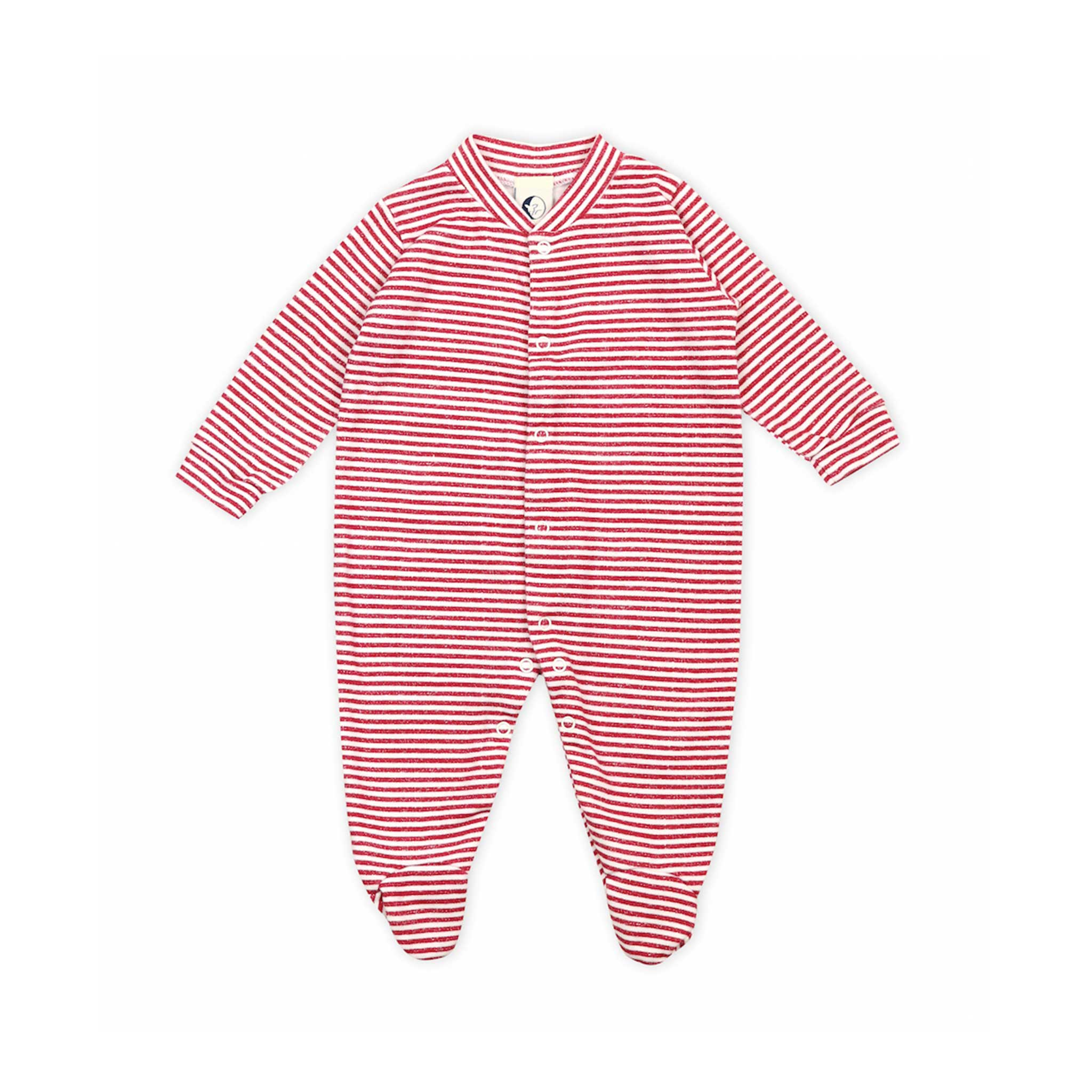 SLEEPY DOE | Baby Sleepsuit | Berry Stripe