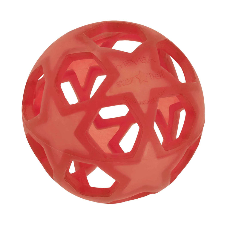 HEVEA Natural Rubber Star Ball Raspberry