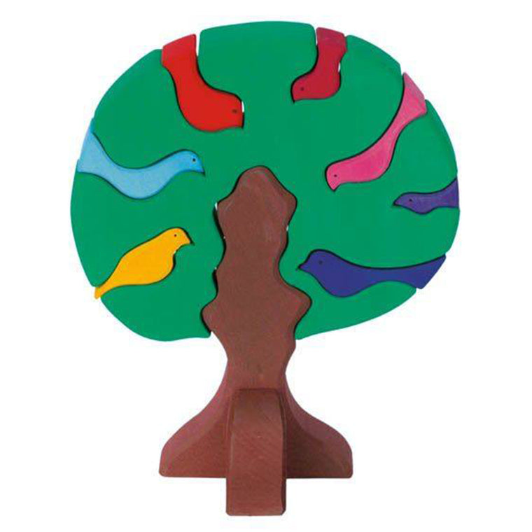 Gluckskafer | Puzzle | Bird Tree | Dark Green
