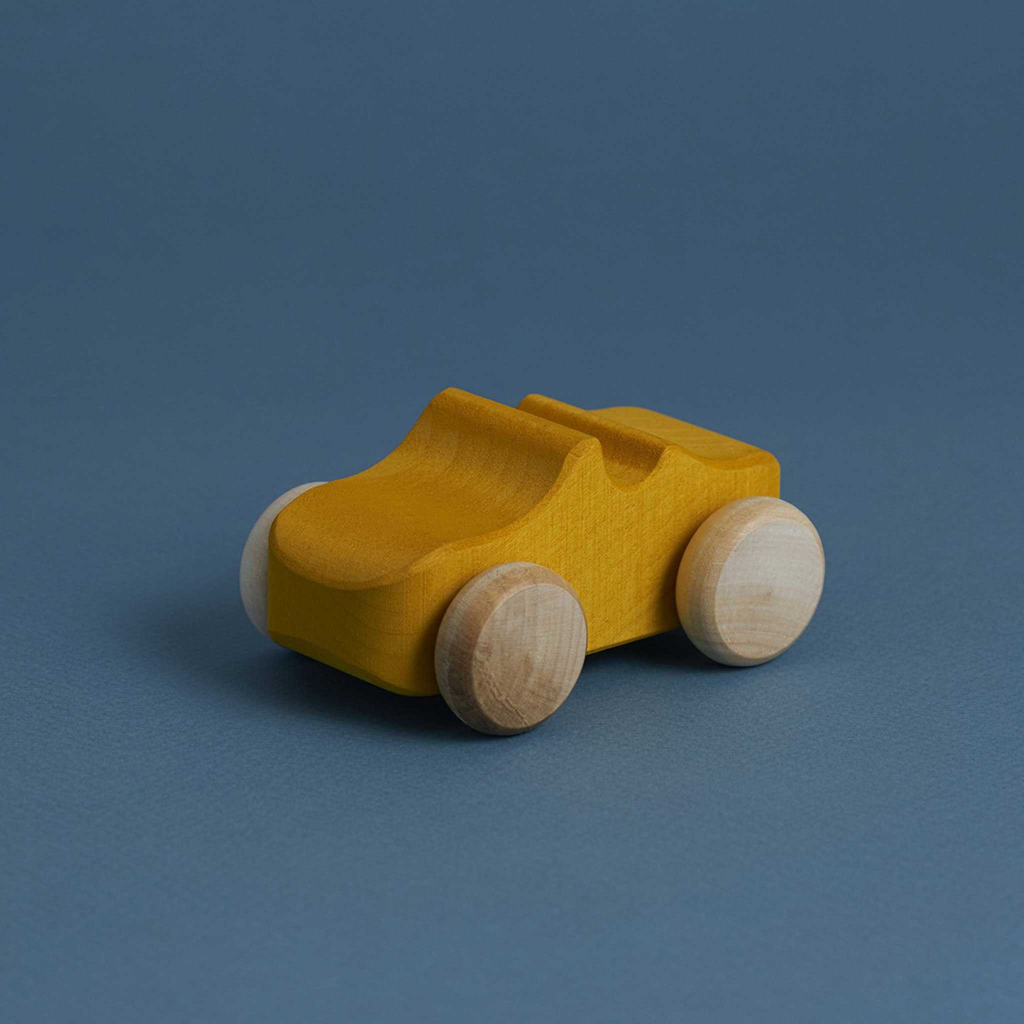RADUGA GRËZ  | Wooden Toy Car | Mustard
