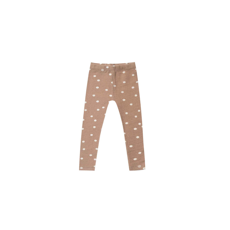 RYLEE + CRU | SNOWBIRD | Dot Knit Legging | Truffle / Wheat