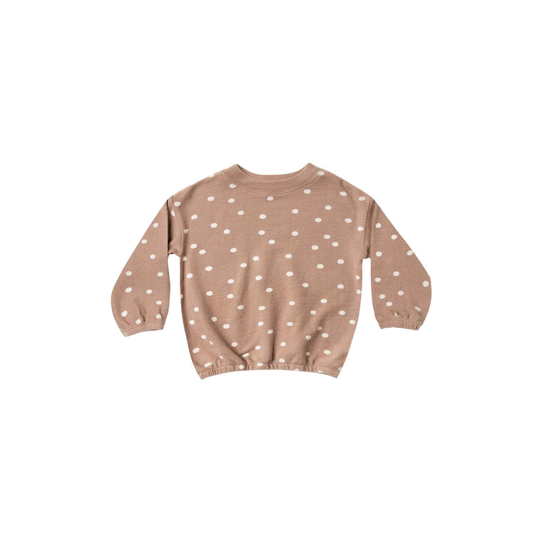 RYLEE + CRU | SNOWBIRD | Dot Pullover Sweater | Truffle / Wheat