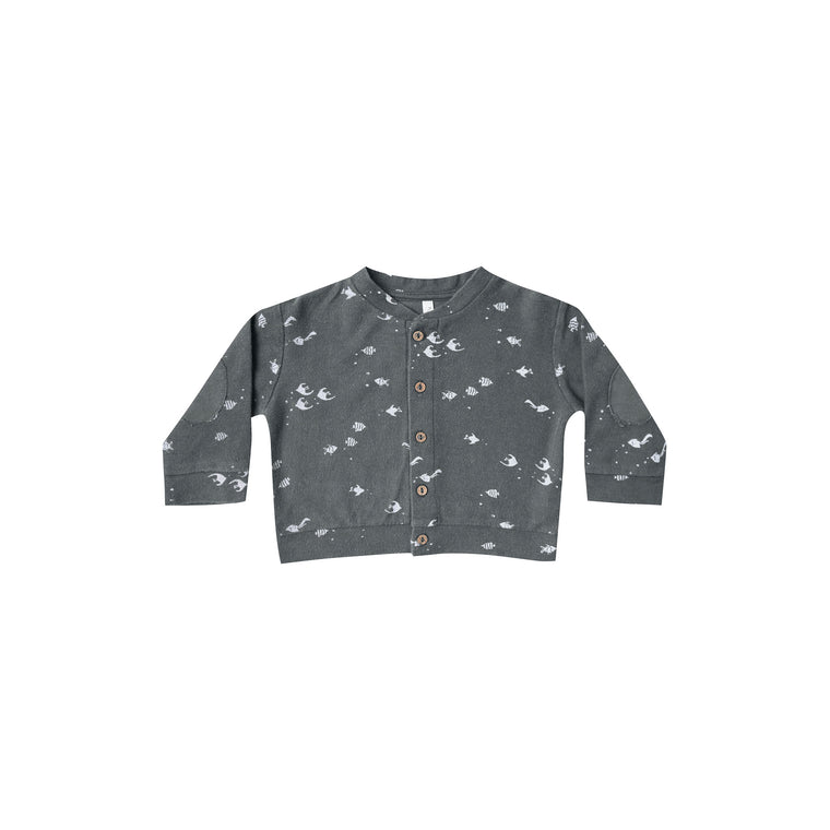 RYLEE + CRU Angel Fish Baby Cardigan - Storm