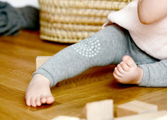 GOBABYGO Crawling Tights Grey Melange