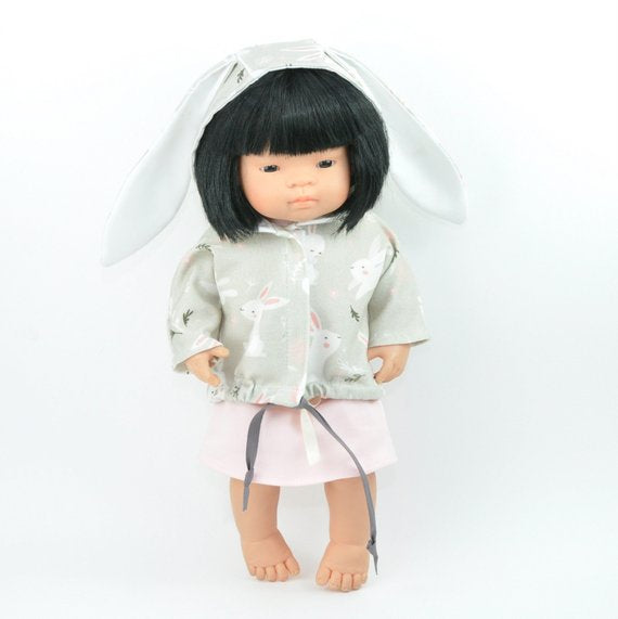 Doll Clothing Bunny Coat and Dress Set