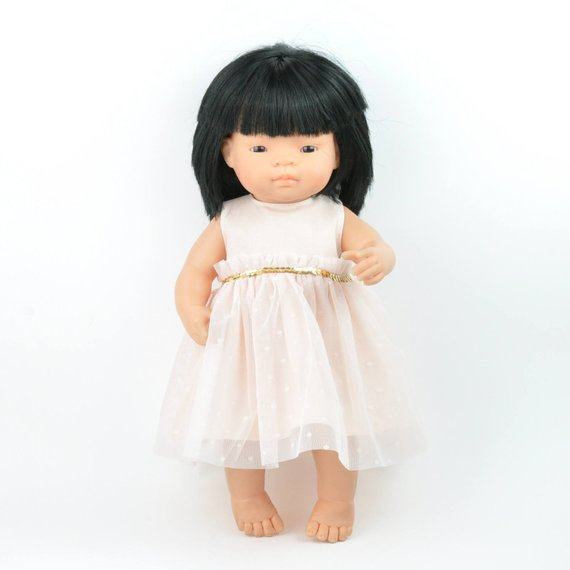Doll Clothing | Peach Tulle Party Dress