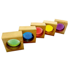 BAUSPIEL | Square Windows | 25 Blocks with Wooden Storage Tray