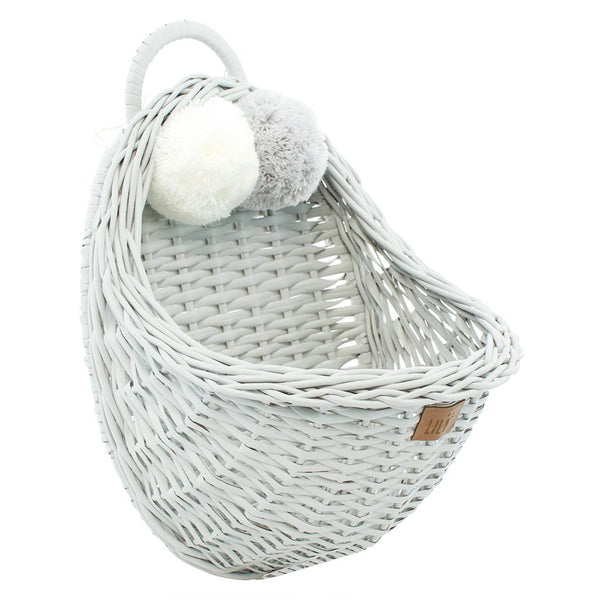 LILU | Wicker Wall Basket | White