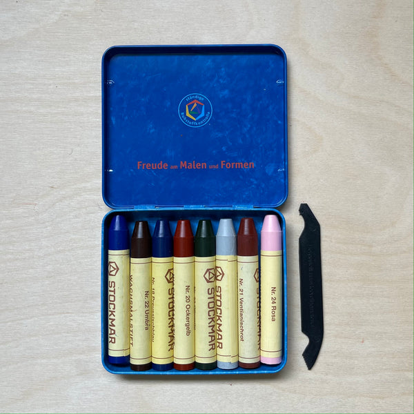 STOCKMAR |  Wax Crayons | 8 Sticks in Tin | Supplementary Mix 1