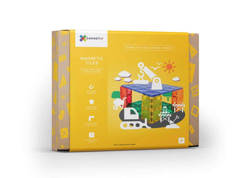 CONNETIX TILES | Magnetic Building Tiles | 2 Piece Base Plate Pack