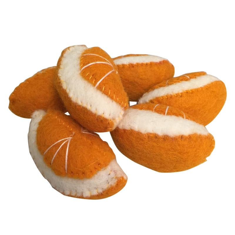PAPOOSE | Felt Food | Orange Segments | Set of 6
