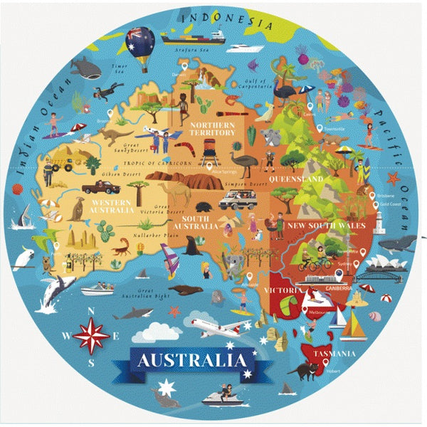 SASSI JUNIOR | Travel, Learn + Explore | Australia Puzzle + Book