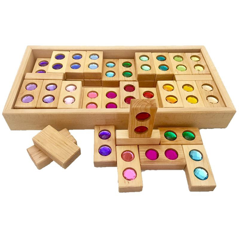 BAUSPIEL | Colour Street Blocks | Full Set 45 Piece with Tray