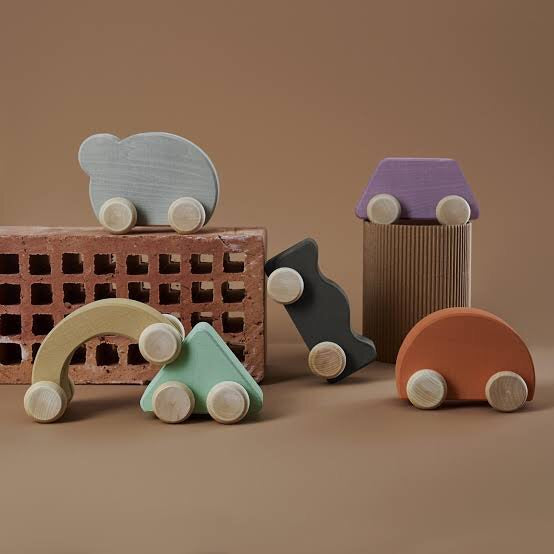 RADUGA GRËZ  | Wooden Toy Car | Pearl
