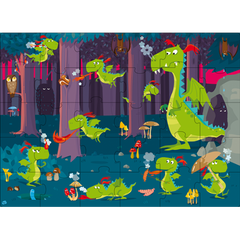 SASSI JUNIOR | Book and 30 Piece Puzzle | Dragon in the Forest