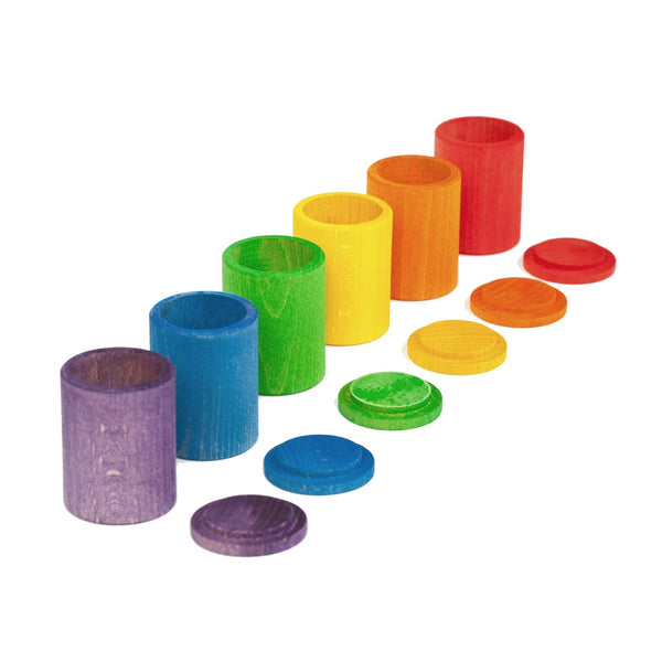 GRAPAT | Coloured Cups with Lid | 6 pieces