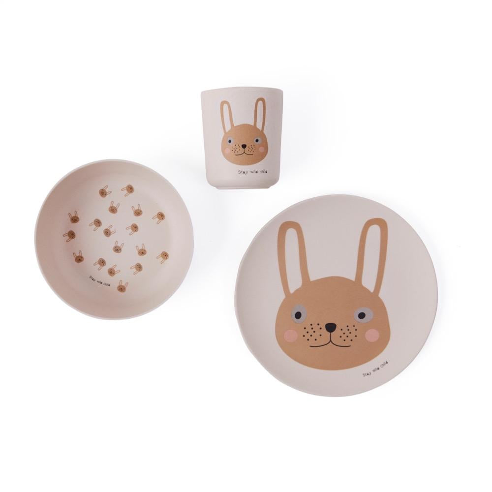OYOY | Rabbit Bamboo Tableware Set