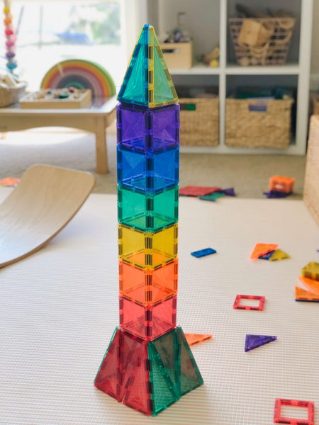 CONNETIX TILES | Magnetic Building Tiles | 62 Piece Set