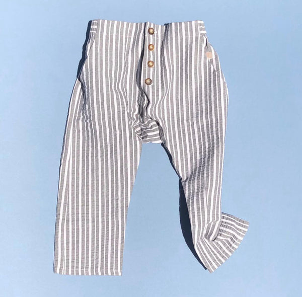 RAARAA KIDS | Stripe Archer Pant | Charcoal