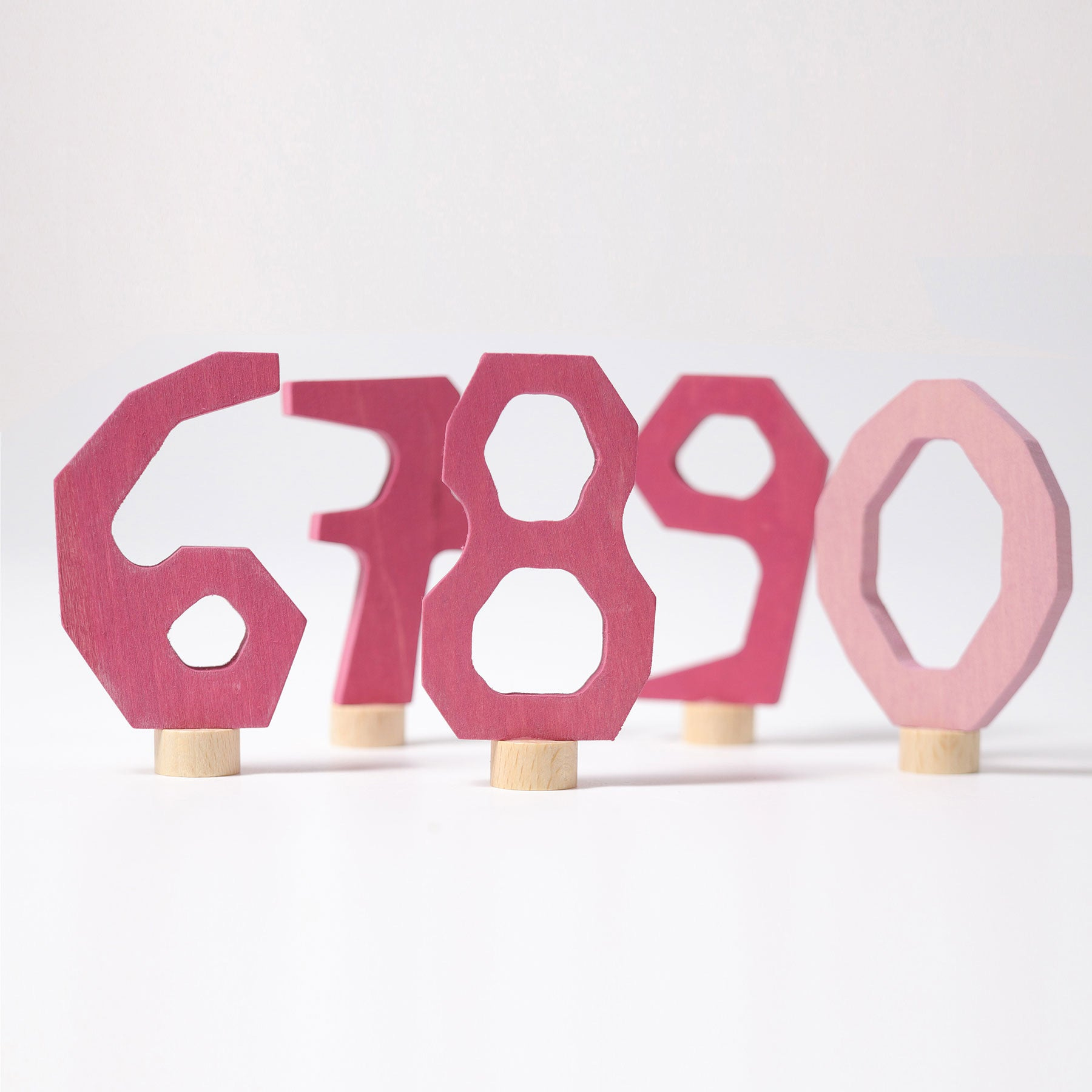GRIMM'S Decoration | Numbers Set From 6-9 and 0 | PINK