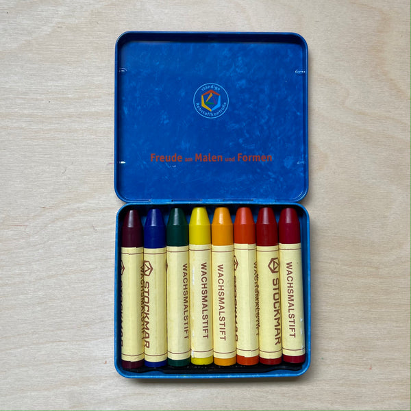 STOCKMAR |  Pure Beeswax  Crayons | 8 Sticks in Tin | Waldorf Mix