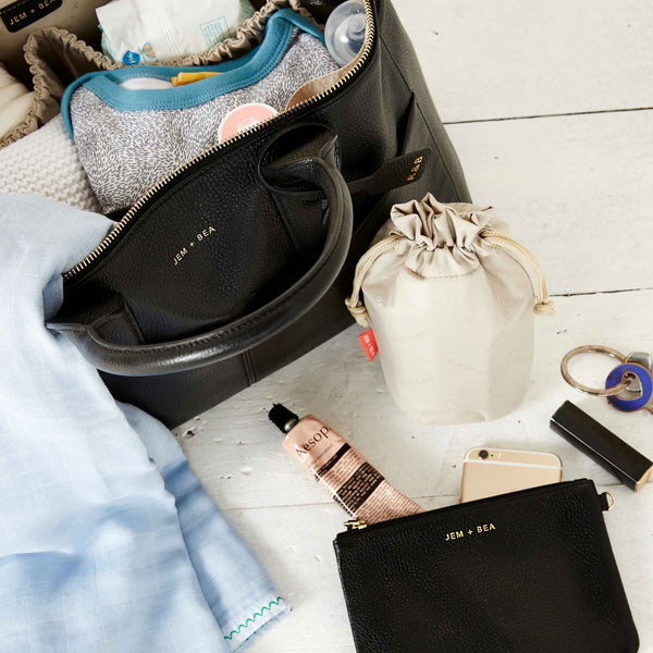 JEM + BEA Jemima Changing Bag  Black