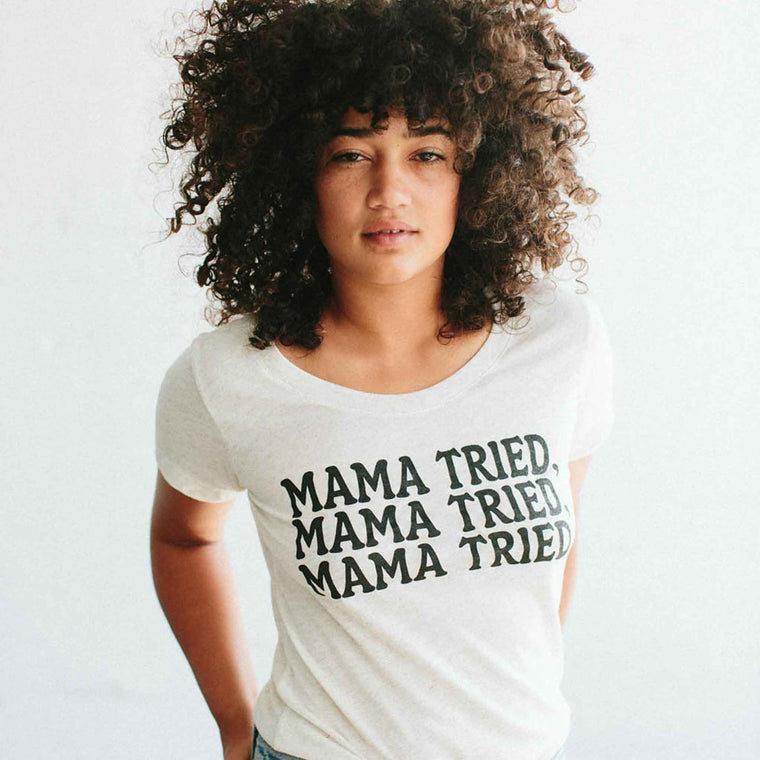 THE BEE AND THE FOX | Women's Tee | Mama Tried | Oatmeal
