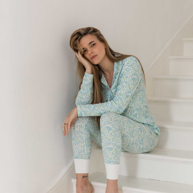 SLEEPY DOE Mumma Collar PJ Set Morris Floral