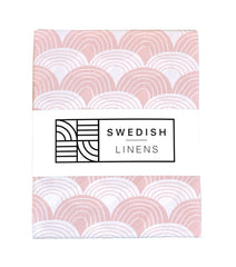 SWEDISH LINENS Rainbows Fitted Sheet Nudy 90cm X 200cm