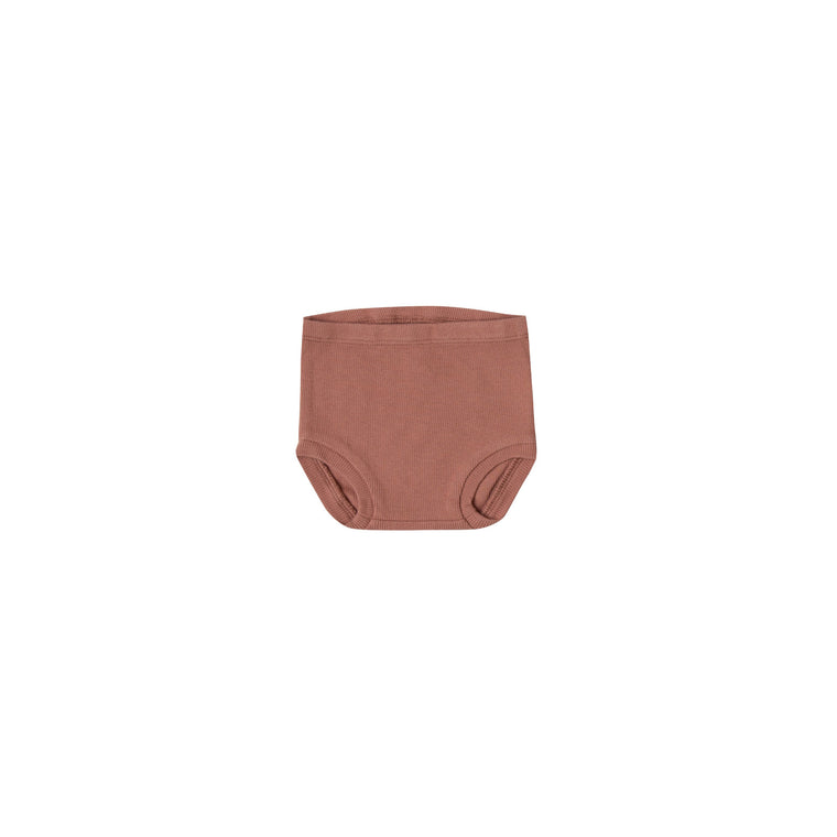 QUINCY MAE Ribbed Bloomer - Clay (Pre-Order Mid November Delivery)