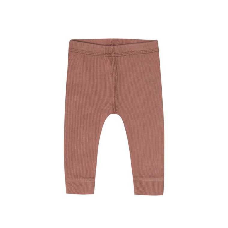 QUINCY MAE Ribbed Legging - Clay (Pre-Order Mid November Delivery)