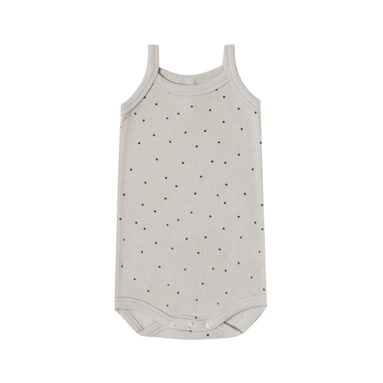 QUINCY MAE Ribbed Tank Onesie - Dove (Pre-Order Mid November Delivery)