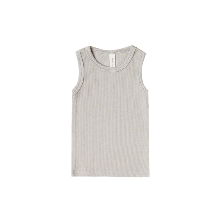 QUINCY MAE Ribbed Baby Tank - Dove (Pre-Order Mid November Delivery)