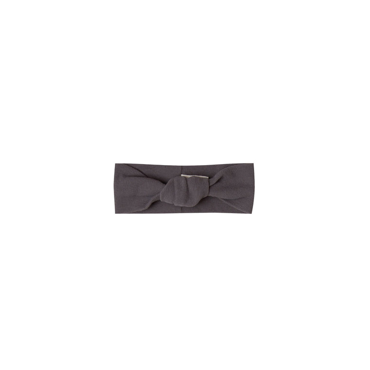 QUINCY MAE Ribbed Baby Turban - Coal (Pre-Order Mid November Delivery)