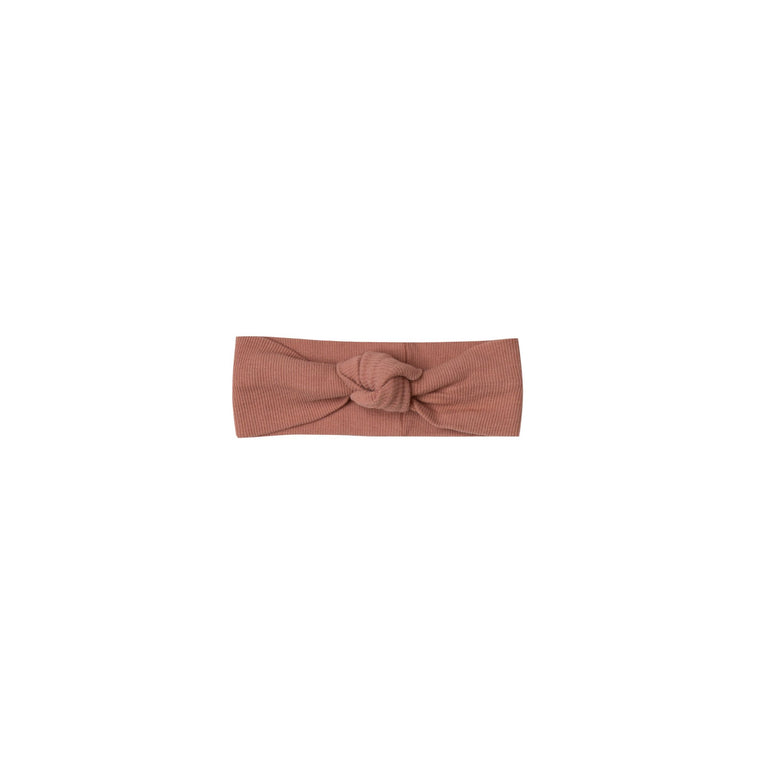 QUINCY MAE Ribbed Baby Turban - Clay (Pre-Order Mid November Delivery)
